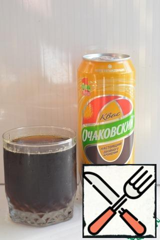 For the preparation of the drink I used kvass.