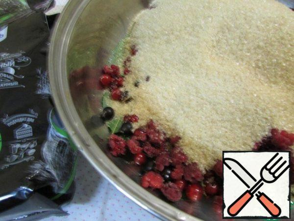 Add the cane sugar.