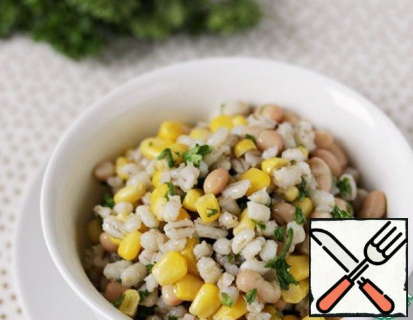 Salad is a Side Dish of Pearl Barley Recipe
