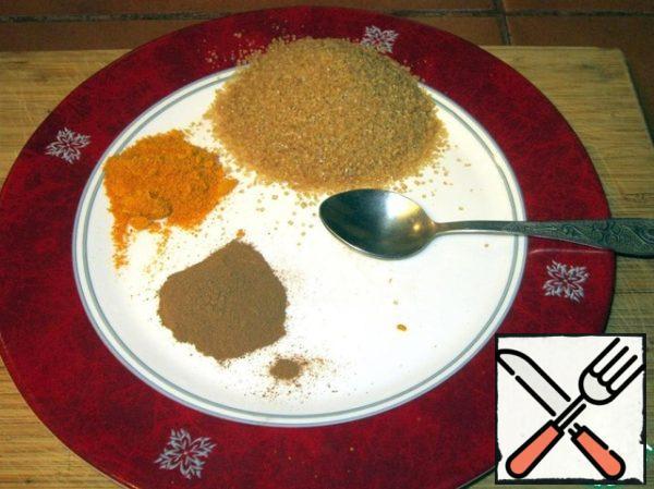 1 tsp ground cinnamon, 1 tsp orange peel, 8 tsp cane sugar.