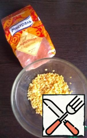 Boil the lentils for 20 minutes.