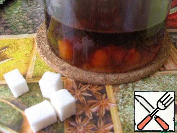 Add sugar to it, as it should be stirred. Cool to room temperature.