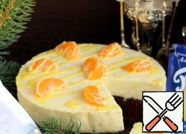 Top can be decorated with yellow glaze and tangerine slices.