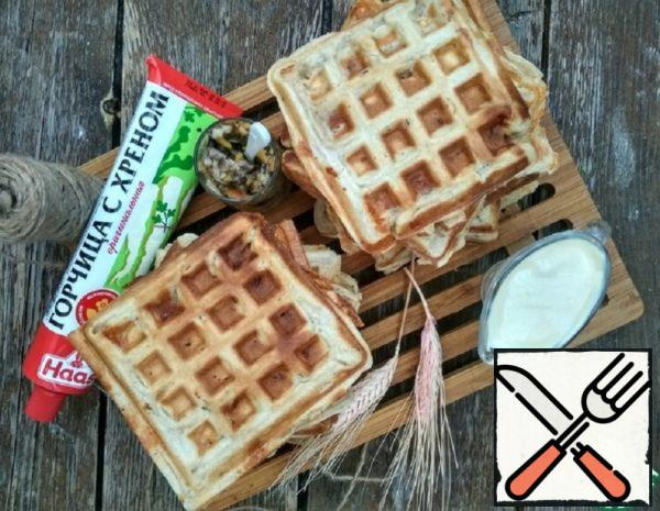 Waffles with Bacon and Mustard Recipe