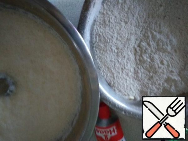 Add oil and stir.
