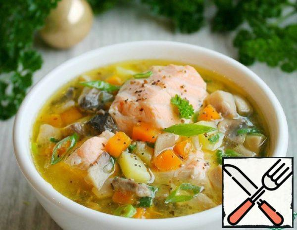 Salmon Soup with Mushrooms Recipe