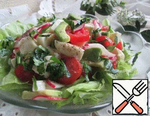 Vegetable Salad with Mozzarella Recipe