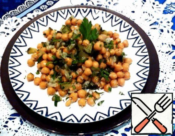 Chickpea Salad with Pickles Recipe