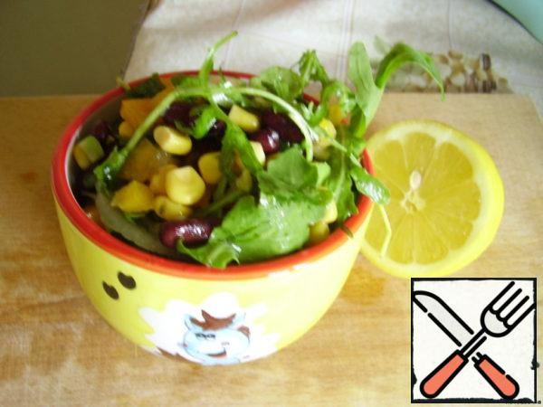 Vegetable Salad with Beans and Avocado Recipe