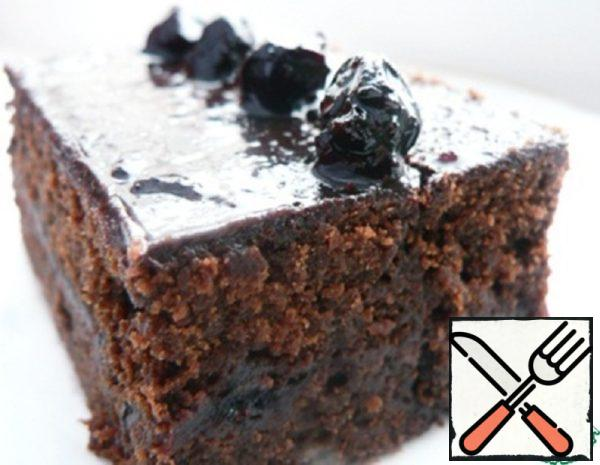 Brownies with Black Currant Jam Recipe