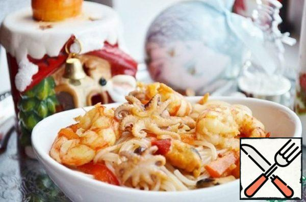 Rice Noodles with Seafood Recipe