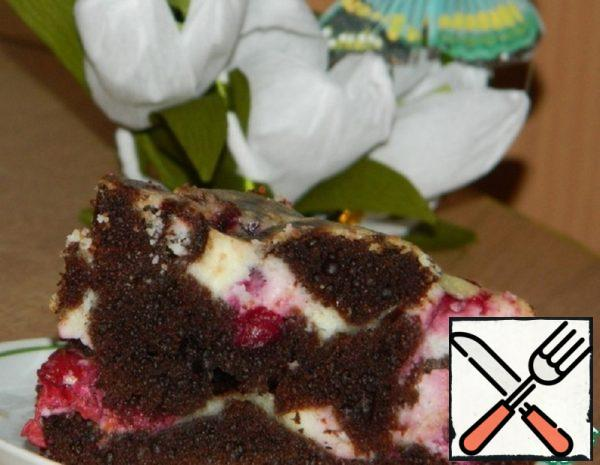 Brownies with Cottage Cheese and Cherries Recipe