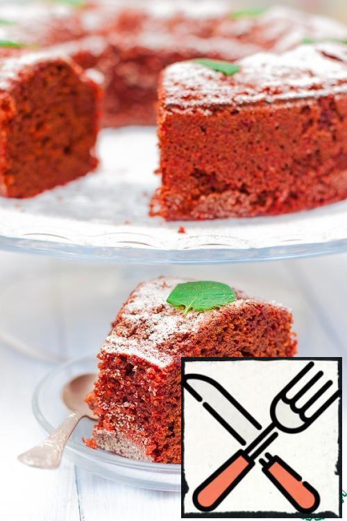 Bake under t-180C 25-30 minutes. Brownie becomes even better-wet, fragrant, gentle.