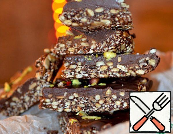 Brownies with Sunflower Seeds, Sesame Seeds and Dates Recipe