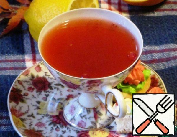 Cranberry Tea with Citrus Fruits Recipe