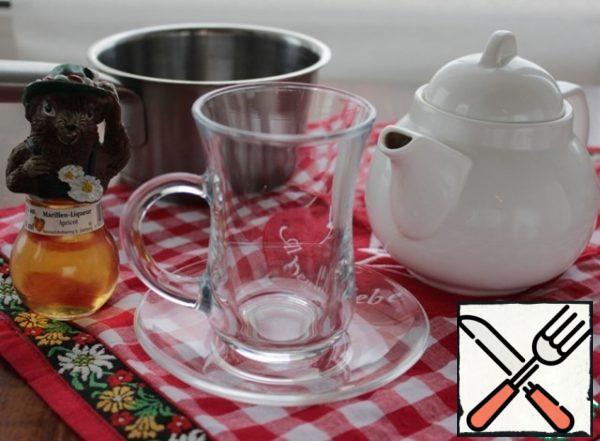 While brewing tea, prepare glasses.