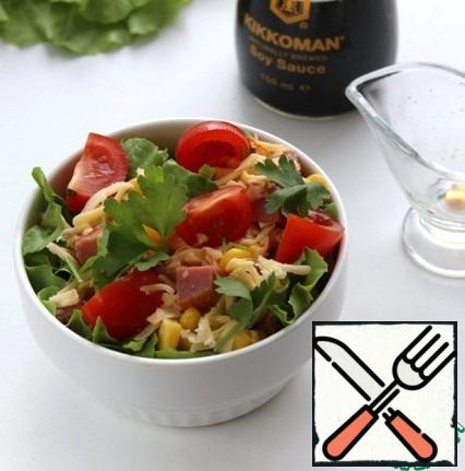 Put in salad bowl.