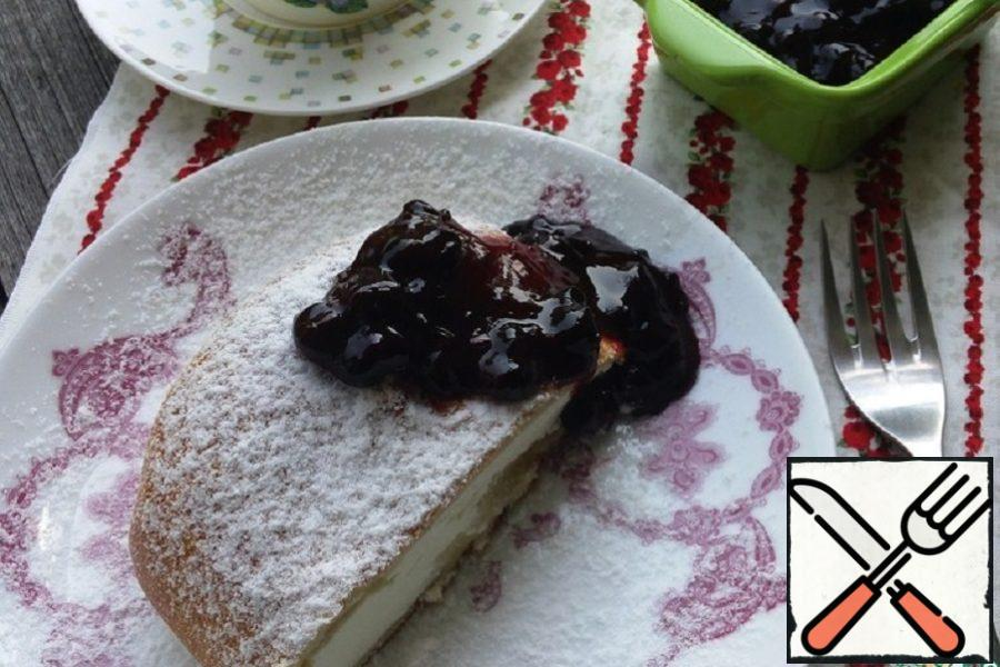 Curd Strudel with Currant Sauce Recipe