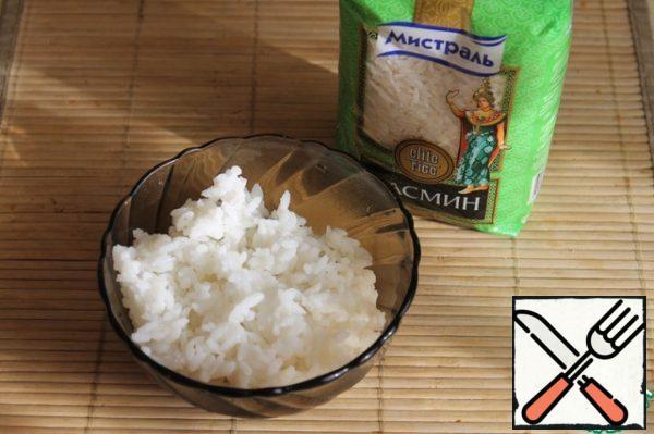 Boil rice.