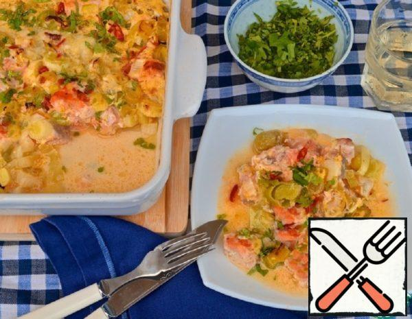 Trout Gratin in Coconut Milk Recipe
