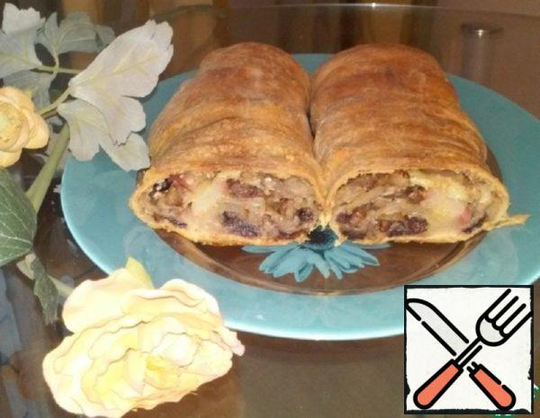 Apple Strudel of Puff Pastry Recipe