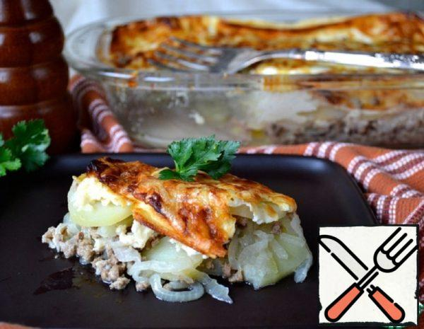 Potato Gratin with Meat Recipe