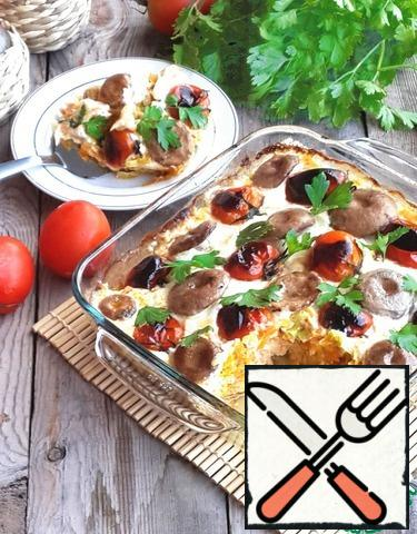 Salmon Gratin with Vegetables Recipe