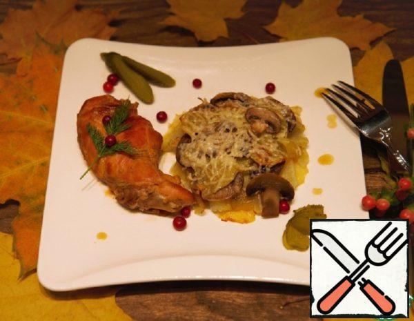 Stewed Rabbit with Gratin under Cheese Recipe