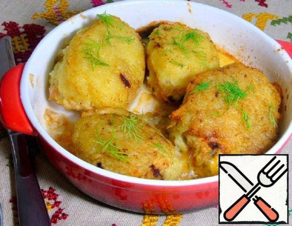 Stuffed Cutlets in Potato fur Coat Recipe