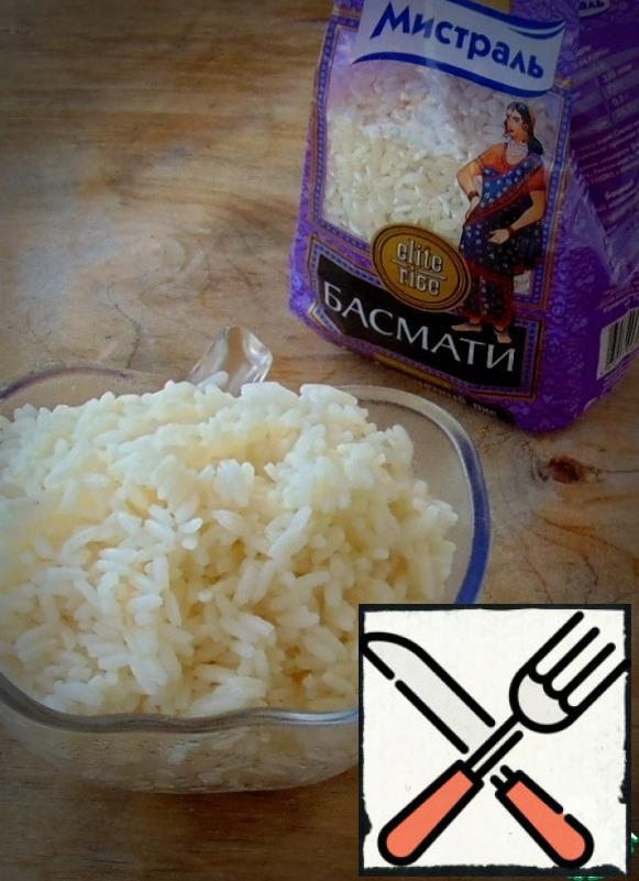 Boil rice, allow to cool.