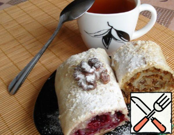 Strudel with Cherry Filling Recipe