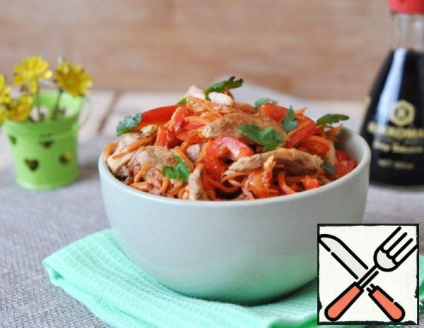 Salad from Chicken with Korean Carrots Recipe