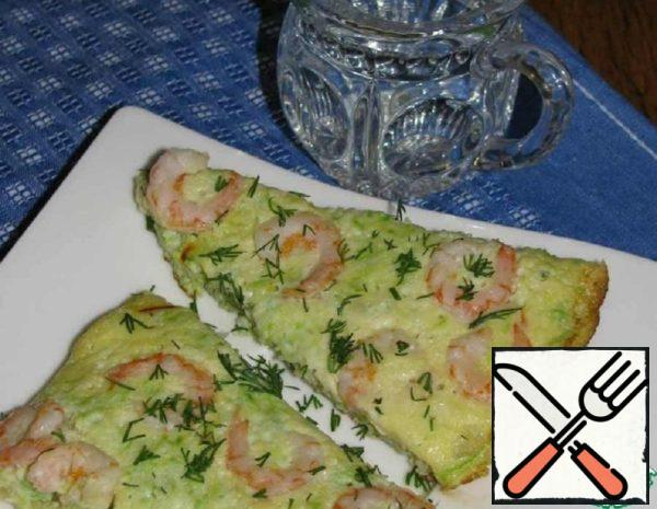 Tortilla with Zucchini and Shrimp Recipe