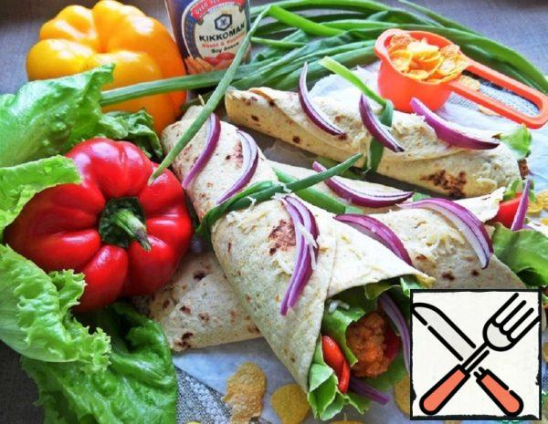 Snack with Chicken in Tortillas Recipe