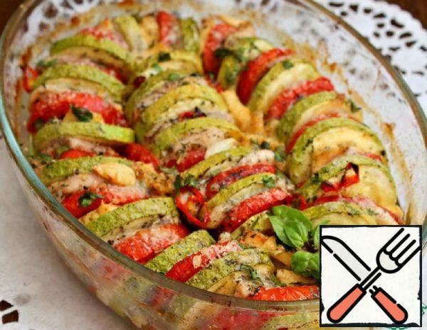 Light Vegetable Casserole with Chicken Breast Recipe