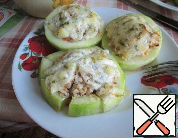 Stuffed Zucchini with Meat and Cheese Recipe