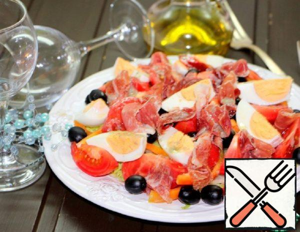 """Salad """"Estepona"""" with Dried Ham Recipe"""