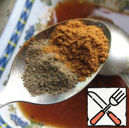 0.5 teaspoons ground black and red hot pepper.