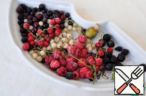 Defrost the berries.