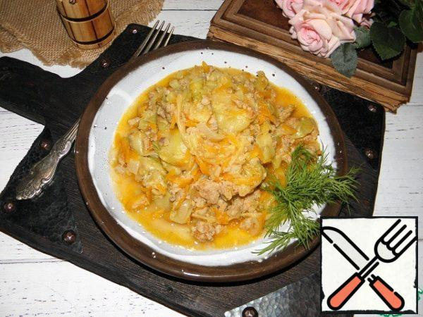 The dish is ready, if desired, when serving, you can sprinkle with herbs.