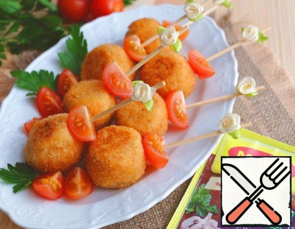 Potato Balls with Chicken Recipe