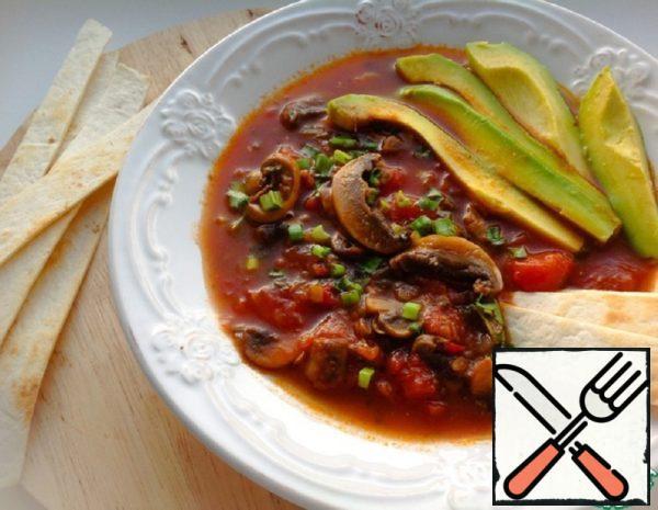"""Mushroom Soup """"Tortilla"""" Recipe"""