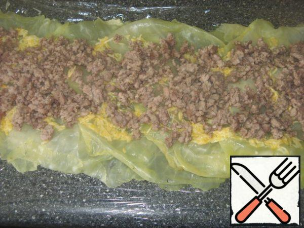 Then-a layer of minced meat.