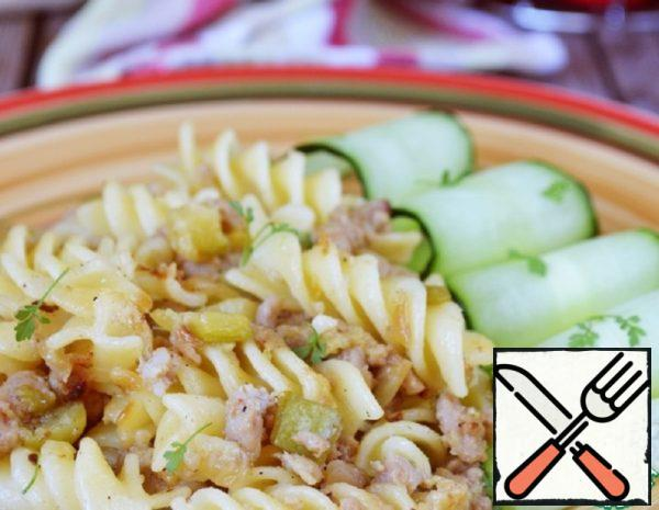 Pasta with Minced Meat and Zucchini Recipe
