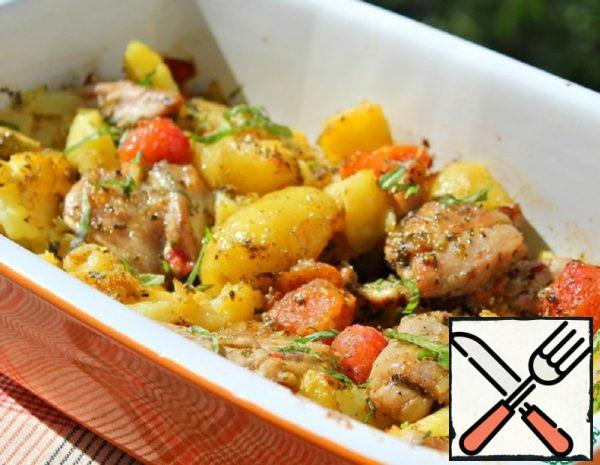Chicken thighs with Potatoes Recipe