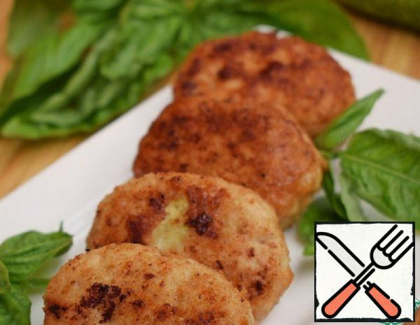 Turkey Cutlets with Cabbage and Cottage Cheese Recipe
