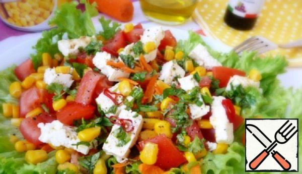 Simple Salad of Corn and Feta Recipe