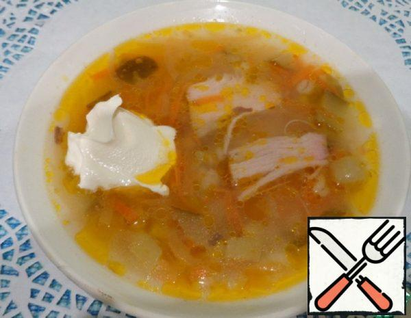 Pickle  Soup without Potatoes Recipe