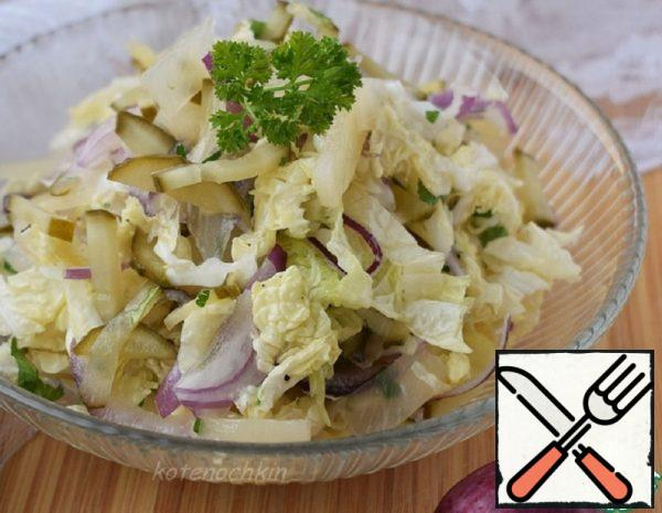 Salad with Pineapple and Pickled Cucumber Recipe