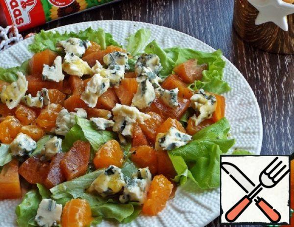 Salad with Persimmon and Blue Cheese Recipe